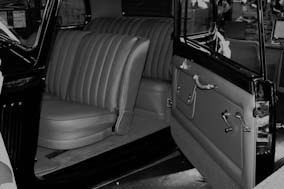 Rolls Royce recovery using Connolly leather, Wilton carpet and Wool Broadcloth.
