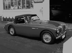 Austin Healey soft top using black Everflex.