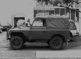 Army Jeep, using authentic canvas for soft top.
