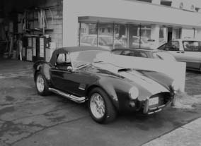 AC Cobra soft top, using Everflex.
