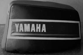 Yamaha 70 HP padded engine cover.